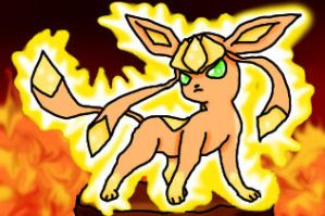 Flaming Glaceon by ClannadLover22