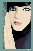 Girl with turquoise eyes by solgas