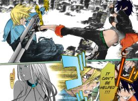 Air Gear 259 - Ikki vs Loki by scorpinoc