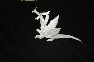 Three Headed Dragon-Montroll by origami-artist-galen