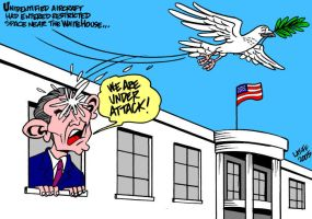 Frightened Bush by Latuff2