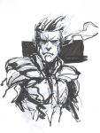 Solid Snake Brush Pen by ManBean
