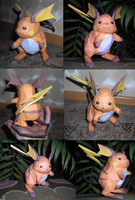 Raichu papercraft by WeirdaMirrart