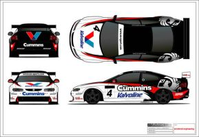 Vauxhall Monaro Race livery by andyblackmoredesign
