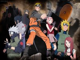 Naruto Group Wallpaper by EclairDesigns