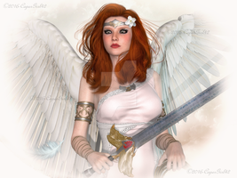 Firey Haired Angel by CaperGirl42