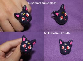 Luna from Sailor Moon ring by lkcrafts