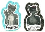 Marker Badge -- Aviraz + Zenshiro by Geistlicher
