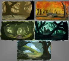 Forest Sketches by Chachava