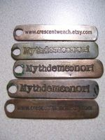 Keychains made for a trade by creativeetching
