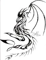 Phoenix-Khaine dragon tattoo by CrystalBlueDragon
