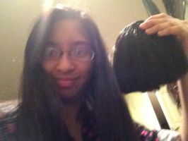 I had my natural black Clip In Bangs 1 by Magic-Kristina-KW