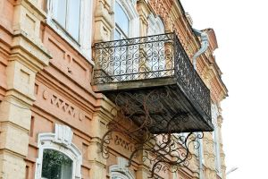 Mansion in Miass balcony detail 1 by wildplaces
