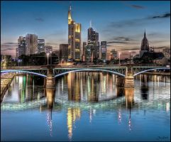 Frankfurt Skyline - Blue Hour by TylerDurd3n