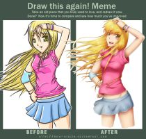 Draw this again Meme - 2 by mew-ninjin