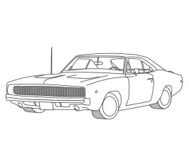 Muscle Car Lineart by Formula-UK