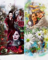 Evil queen and Regina by ItsSweetHeart