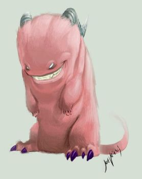 Pink sock monster by joverine
