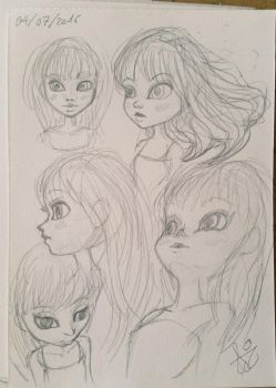 Faces doodles by Aimochan