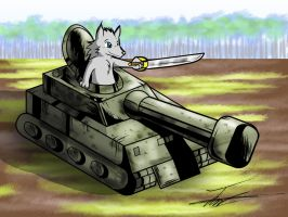 Wolfie in a Tank by paladin095