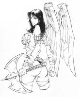 Angel Tattoo Design Commission by rantz
