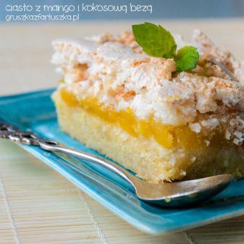 mango and coconut meringue cake by Pokakulka
