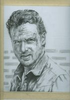 WIP # 4 Rick Grimes by jeanfverreault
