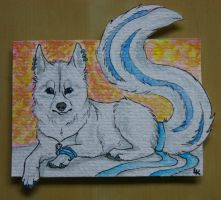 White Beautiy ACEO .:G:. by RedSoulWolf13