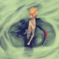Ichigo back by Plaitum