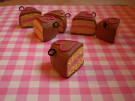 Cake Slices with hearts by vesssper