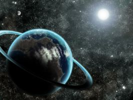 Earth and the ring-world: Halo by Nazo-The-Unsolvable