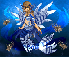 Nameless Blue Lion Fish Mermaid by Asoq