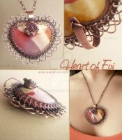 Heart of Evi Necklace by popnicute