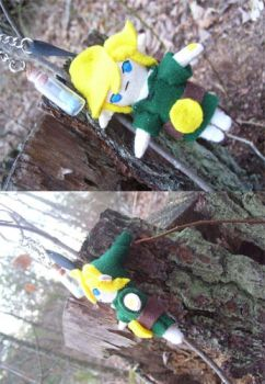 Link keychain with fairy by kreatinginsecurities
