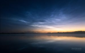 Night Clouds Over The Lake II by JoniNiemela