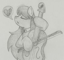 A Sad Tune (sketch) by Blue-Blazer-pony