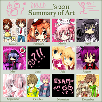 ..2011 Art Summary.. by darldNife