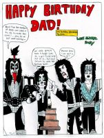 Kiss: Birthday Card For My Dad by TheMonkeyYOUWant