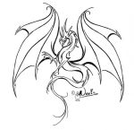 lined dragon tattoo 1 by noot