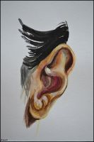 Painting- Ear by Ennete