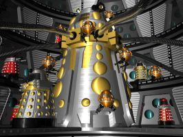 dalek ship by Slythenperior