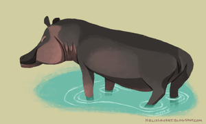 Daily Design: Hippopotamus by sketchinthoughts