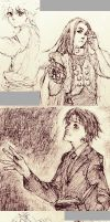 Hunter x Hunter sketch dump by Folie-1618