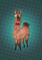 Llama with a Bowtie by JadeGordon
