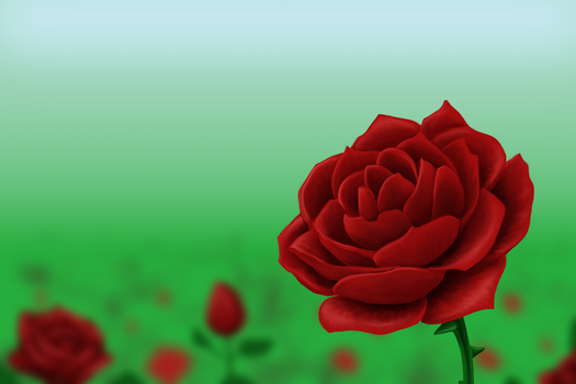Try Painting a Rose by ZephyrXenonymous