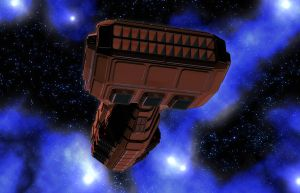 Wedge Freighter 03 by MADMANMIKE