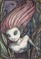 Mermaid ATC by jefita
