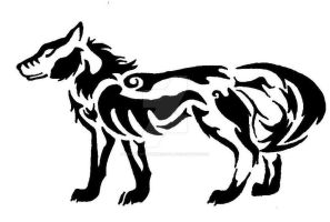 Wolf Tribal Tattoo by WildMind-UntamedSoul