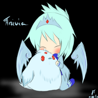 League of Legends: Human!Anivia and chibi by TheMuteMagician