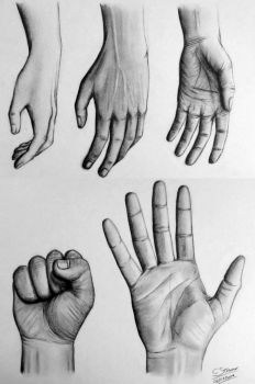 Hand Drawings - 5 Different Ways by LethalChris